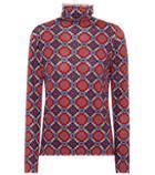 Etro Printed Wool Turtleneck Top