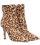 Gianvito Rossi Levy 85 Calf Hair Ankle Boots