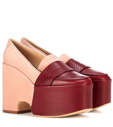 Gabriela Hearst Ceballos Leather Platform Loafers