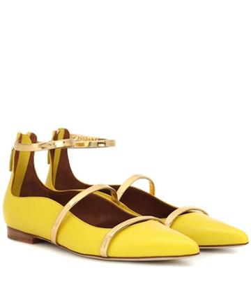 Malone Souliers Robyn Flat Leather Ballet Flats