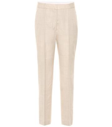 Stella Mccartney Cropped Linen-blend Pants