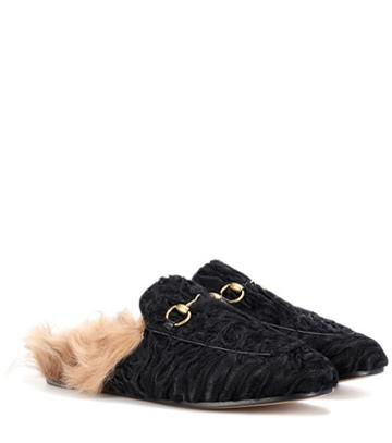Gucci Princetown Lamb Fur Slipper