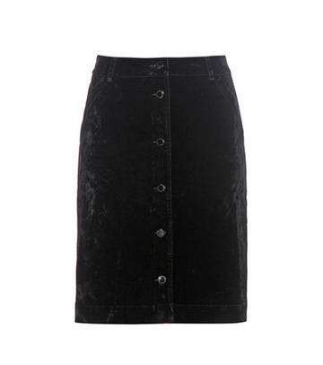 Gianvito Rossi Velvet Skirt
