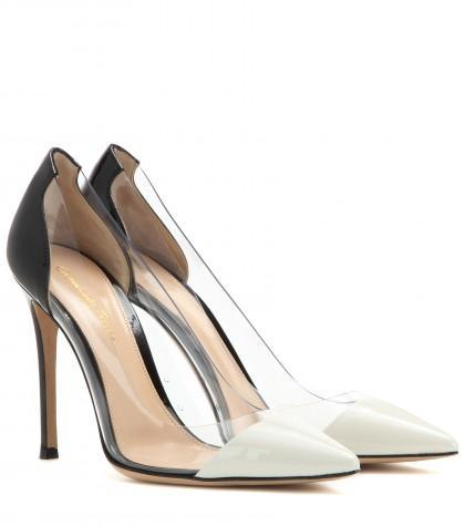 Gianvito Rossi Patent Leather And Transparent Pumps