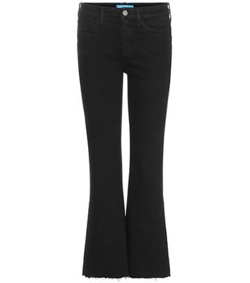Gianvito Rossi Lou Cropped Flared Jeans