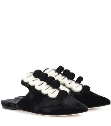 Sanayi 313 Antoinette Velvet Slippers