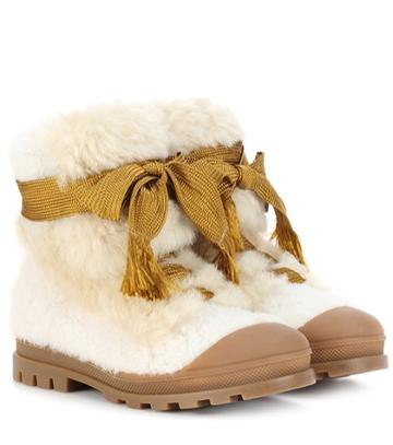 Chlo Shearling Ankle Boots