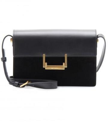 Saint Laurent Lulu Medium Leather And Suede Shoulder Bag