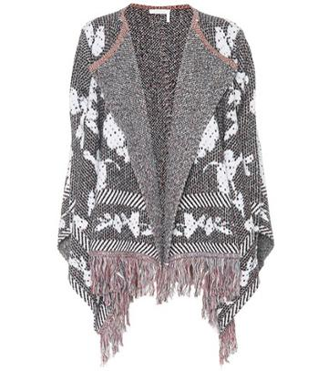 See By Chlo Fringed Cotton-blend Cardigan