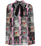 Gucci Cat-printed Top