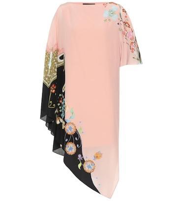 Etro Floral Silk Asymmetric Dress