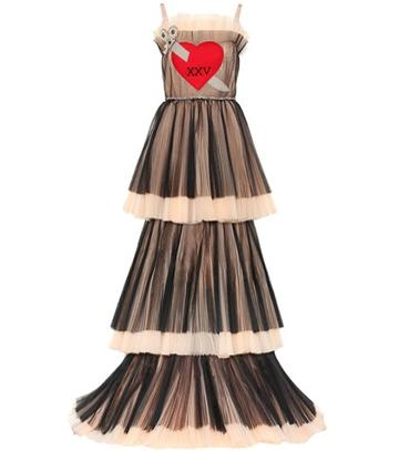 Gucci Embroidered Tiered Tulle Gown