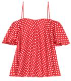 Anna October Dotted Cotton Top