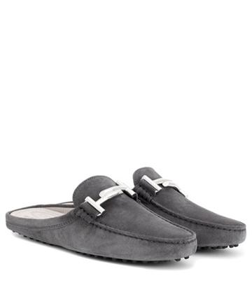 Tod's Exclusive To Mytheresa.com – Gommini Double T Suede Slippers