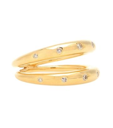 Theodora Warre Diamond Double Band Gold-plated Ring