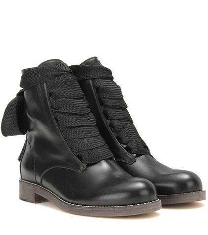 Chlo Harper Leather Ankle Boots