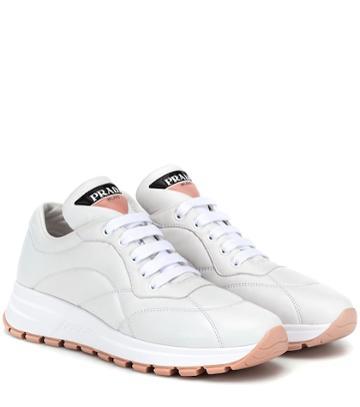 Miu Miu Prax-01 Leather Sneakers
