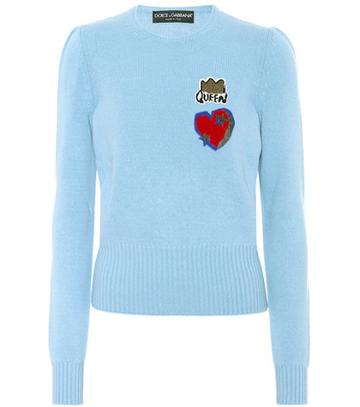Dolce & Gabbana Wool Sweater With Appliqué