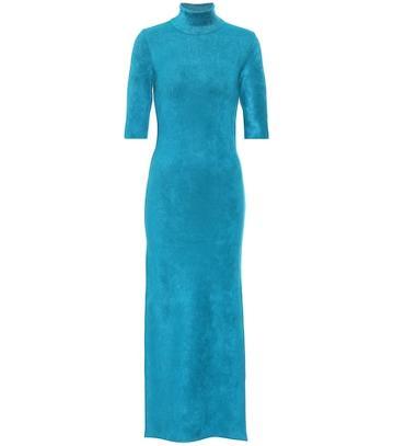Balenciaga Stretch-knit Midi Dress