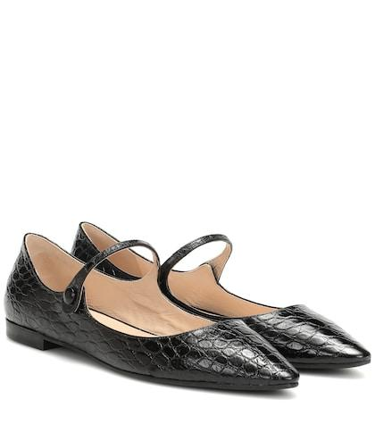 Cartier Eyewear Collection Embossed Leather Ballet Flats