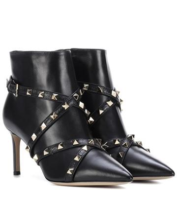 Tory Sport Valentino Garavani Leather Ankle Boots