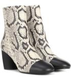 Mcq Alexander Mcqueen Printed Leather Ankle Boots