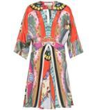 Etro Printed Silk-blend Minidress