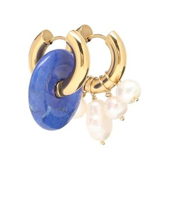 Timeless Pearly Baroque Pearl And Stone Earrings