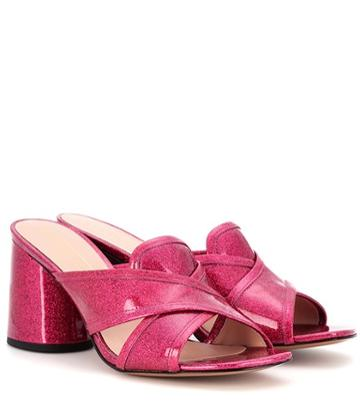 Marc Jacobs Aurora Patent Leather Mules