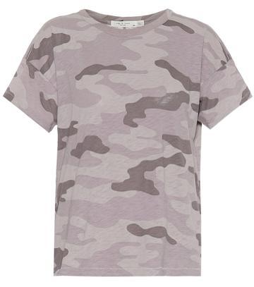 Rag & Bone Camo Vintage Crew Cotton T-shirt