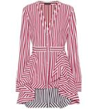 Alexander Mcqueen Striped Cotton Minidress