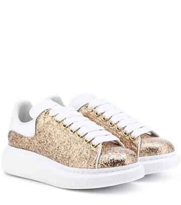 Malone Souliers Glitter Platform Leather Sneakers