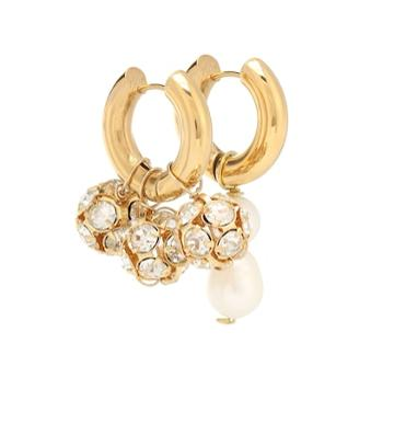 Timeless Pearly Mismatched Embellished Earrings