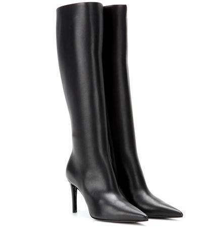 Balenciaga Leather Knee Boots