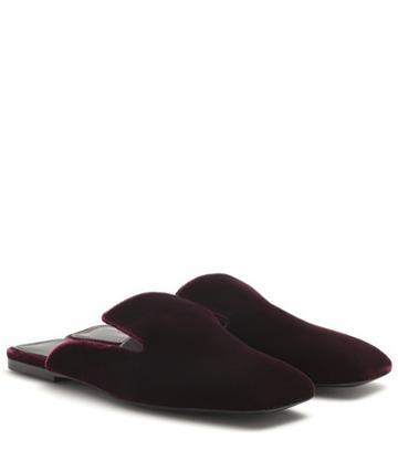 Alexander Mcqueen Velvet Slippers