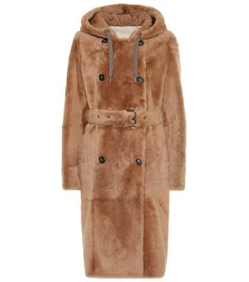 Brunello Cucinelli Hooded Shearling Coat