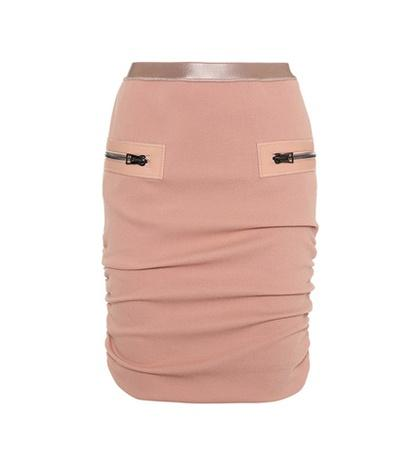Tom Ford Gathered Wool-crêpe Skirt