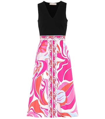 Emilio Pucci Printed Silk And Jersey Dress
