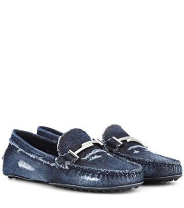 Dolce & Gabbana Gommino Denim Loafers