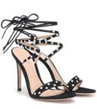 Gucci Embellished Suede Sandals