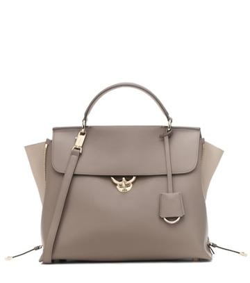 Timeless Pearly Jet Set Large Leather Tote
