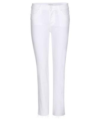 Gianvito Rossi The Rascal Ankle Snippet Slim Straight Cropped Jeans