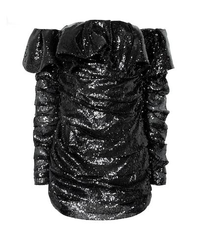 The Attico Off-the-shoulder Sequined Minidress