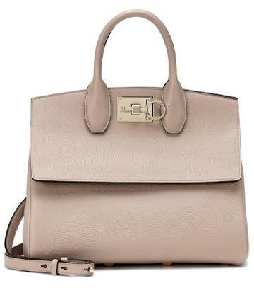 Timeless Pearly Studio Leather Tote