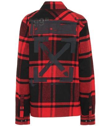 Philosophy Di Lorenzo Serafini Plaid Cotton-blend Jacket