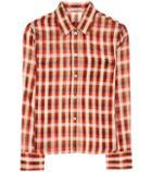 Prada Plaid Cotton Shirt