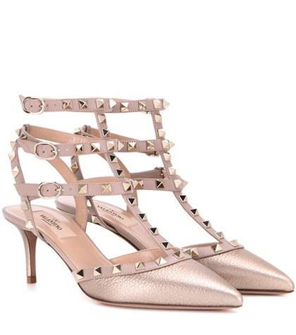 Valentino Garavani Valentino Garavani Rockstud Metallic Leather Pumps