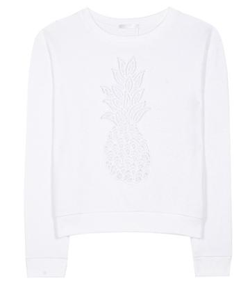 Chlo Embroidered Cotton Sweatshirt