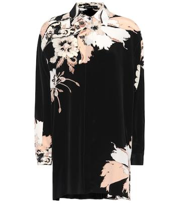 Etro Floral Silk Crêpe De Chine Shirt