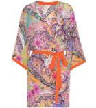 Etro Printed Silk Wrap Dress